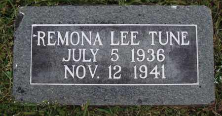 TUNE, REMONA LEE - Washington County, Arkansas | REMONA LEE TUNE - Arkansas Gravestone Photos