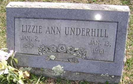 UNDERHILL, LIZZIE ANN - Washington County, Arkansas   LIZZIE ANN UNDERHILL - Arkansas Gravestone Photos