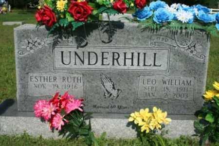 UNDERHILL, LEO WILLIAM - Washington County, Arkansas | LEO WILLIAM UNDERHILL - Arkansas Gravestone Photos
