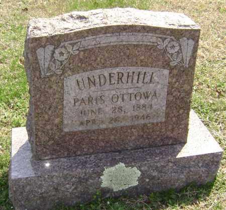 UNDERHILL, PARIS OTTOWA - Washington County, Arkansas | PARIS OTTOWA UNDERHILL - Arkansas Gravestone Photos