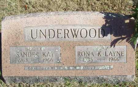 UNDERWOOD, RONA KATHERINE - Washington County, Arkansas   RONA KATHERINE UNDERWOOD - Arkansas Gravestone Photos