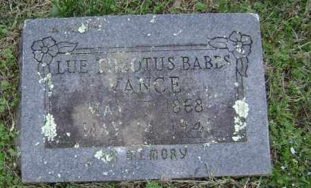 BABBS VANCE, LUE THEOTUS - Washington County, Arkansas   LUE THEOTUS BABBS VANCE - Arkansas Gravestone Photos