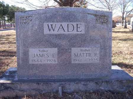 WADE, JAMES E. - Washington County, Arkansas | JAMES E. WADE - Arkansas Gravestone Photos