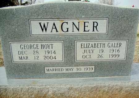 WAGNER, GEORGE HOYT - Washington County, Arkansas | GEORGE HOYT WAGNER - Arkansas Gravestone Photos