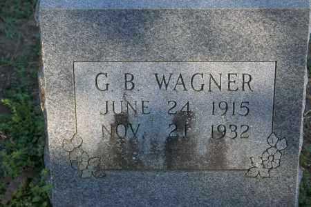 WAGNER, G.B. - Washington County, Arkansas | G.B. WAGNER - Arkansas Gravestone Photos