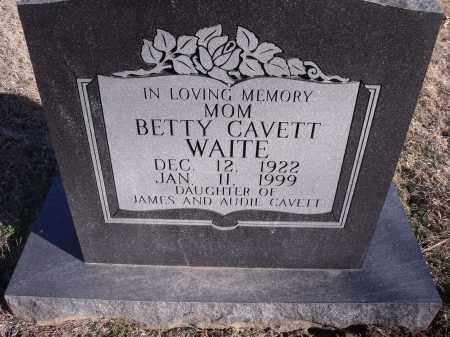 WAITE, BETTY - Washington County, Arkansas | BETTY WAITE - Arkansas Gravestone Photos