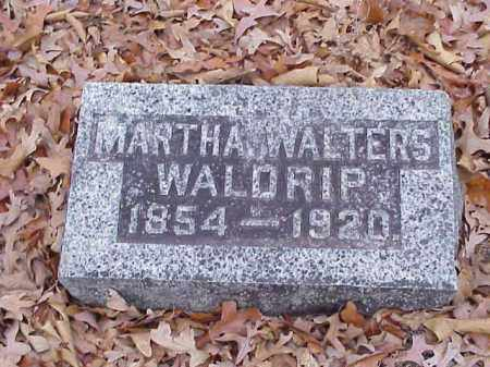 WALDRIP, MARTHA - Washington County, Arkansas | MARTHA WALDRIP - Arkansas Gravestone Photos