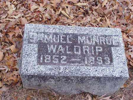 WALDRIP, SAMUEL MONROE - Washington County, Arkansas   SAMUEL MONROE WALDRIP - Arkansas Gravestone Photos