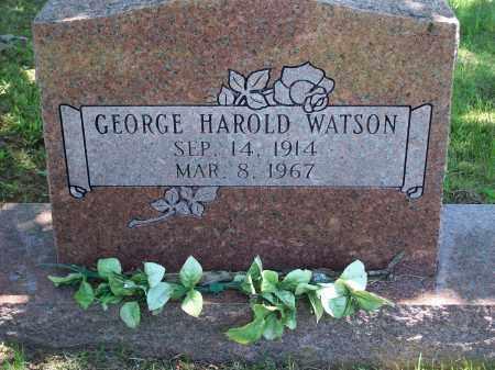 WATSON, GEORGE HAROLD - Washington County, Arkansas | GEORGE HAROLD WATSON - Arkansas Gravestone Photos