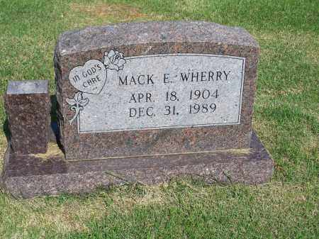 WHERRY, MACK E. - Washington County, Arkansas | MACK E. WHERRY - Arkansas Gravestone Photos
