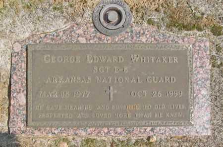 WHITAKER, GEORGE EDWARD - Washington County, Arkansas   GEORGE EDWARD WHITAKER - Arkansas Gravestone Photos
