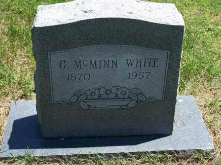 WHITE, GEROME  MCMINN - Washington County, Arkansas   GEROME  MCMINN WHITE - Arkansas Gravestone Photos