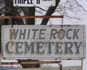 *WHITE ROCK CEMETERY SIGN,  - Washington County, Arkansas    *WHITE ROCK CEMETERY SIGN - Arkansas Gravestone Photos