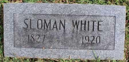 WHITE, SLOMAN - Washington County, Arkansas   SLOMAN WHITE - Arkansas Gravestone Photos