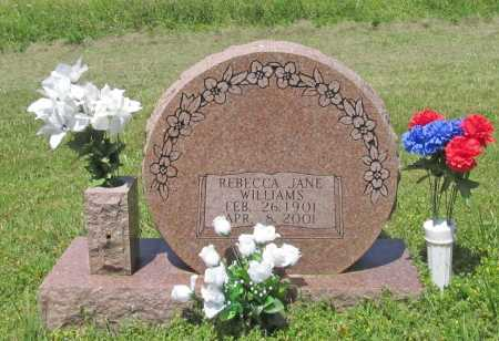 WILLIAMS, REBECCA JANE - Washington County, Arkansas | REBECCA JANE WILLIAMS - Arkansas Gravestone Photos