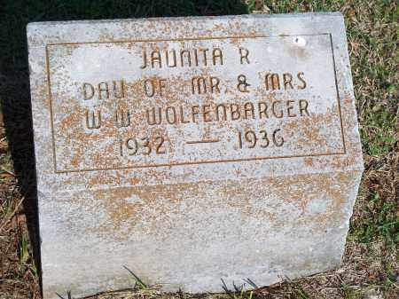 WOLFENBARGER, JAUNITA R. - Washington County, Arkansas | JAUNITA R. WOLFENBARGER - Arkansas Gravestone Photos
