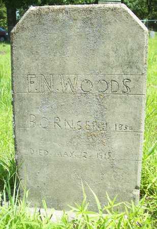 WOODS, F N - Washington County, Arkansas | F N WOODS - Arkansas Gravestone Photos