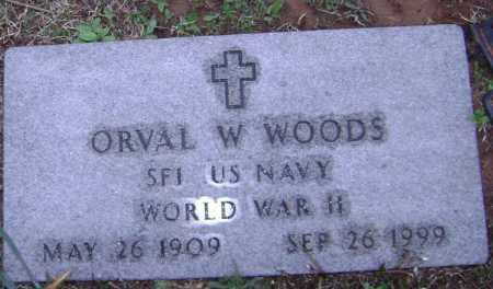 WOODS (VETERAN WWII), ORVAL W. - Washington County, Arkansas | ORVAL W. WOODS (VETERAN WWII) - Arkansas Gravestone Photos