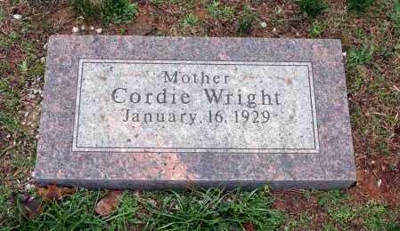 WRIGHT, CORDIE - Washington County, Arkansas | CORDIE WRIGHT - Arkansas Gravestone Photos