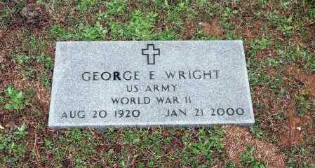WRIGHT (VETERAN WWII), GEORGE E. - Washington County, Arkansas | GEORGE E. WRIGHT (VETERAN WWII) - Arkansas Gravestone Photos