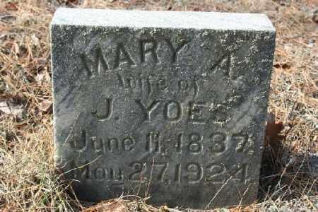 YOES, MARY A - Washington County, Arkansas   MARY A YOES - Arkansas Gravestone Photos