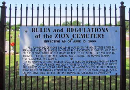 *ZION CEMETERY SIGN,  - Washington County, Arkansas    *ZION CEMETERY SIGN - Arkansas Gravestone Photos