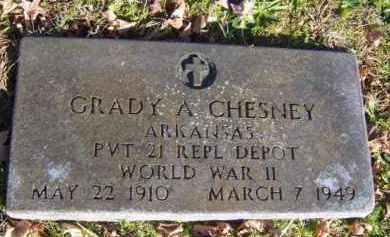 CHESNEY (VETERAN WWII), GRADY A - Washington County, Arkansas   GRADY A CHESNEY (VETERAN WWII) - Arkansas Gravestone Photos