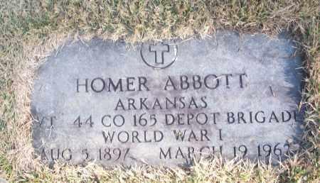ABBOTT  (VETERAN WWI), HOMER - White County, Arkansas   HOMER ABBOTT  (VETERAN WWI) - Arkansas Gravestone Photos