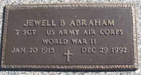 ABRAHAM (VETERAN WWII), JEWELL B - White County, Arkansas   JEWELL B ABRAHAM (VETERAN WWII) - Arkansas Gravestone Photos