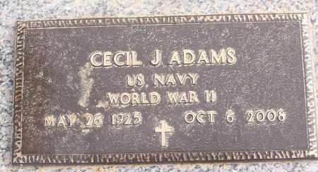 ADAMS (VETERAN WWII), CECIL J - White County, Arkansas   CECIL J ADAMS (VETERAN WWII) - Arkansas Gravestone Photos