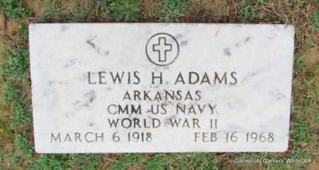 ADAMS (VETERAN WWII), LEWIS H - White County, Arkansas   LEWIS H ADAMS (VETERAN WWII) - Arkansas Gravestone Photos