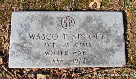 ADCOCK (VETERAN WWI), WASCO T - White County, Arkansas | WASCO T ADCOCK (VETERAN WWI) - Arkansas Gravestone Photos