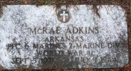ADKINS (VETERAN WWII, KIA), MCRAE - White County, Arkansas | MCRAE ADKINS (VETERAN WWII, KIA) - Arkansas Gravestone Photos