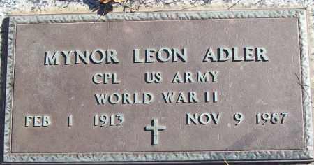 ADLER (VETERAN WWII), MYNOR LEON - White County, Arkansas   MYNOR LEON ADLER (VETERAN WWII) - Arkansas Gravestone Photos