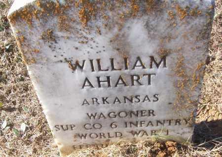 AHART (VETERAN WWI), WILLIAM - White County, Arkansas | WILLIAM AHART (VETERAN WWI) - Arkansas Gravestone Photos