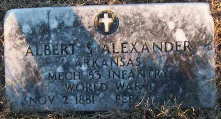 ALEXANDER (VETERAN WWI), ALBERT S - White County, Arkansas   ALBERT S ALEXANDER (VETERAN WWI) - Arkansas Gravestone Photos