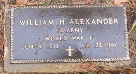 ALEXANDER (VETERAN WWII), WILLIAM H - White County, Arkansas   WILLIAM H ALEXANDER (VETERAN WWII) - Arkansas Gravestone Photos