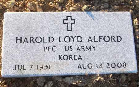 ALFORD (VETERAN KOR), HAROLD LOYD - White County, Arkansas | HAROLD LOYD ALFORD (VETERAN KOR) - Arkansas Gravestone Photos