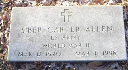 ALLEN (VETERAN WWII), SIBER CARTER - White County, Arkansas   SIBER CARTER ALLEN (VETERAN WWII) - Arkansas Gravestone Photos
