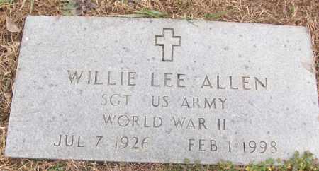 ALLEN (VETERAN WWII), WILLIE LEE - White County, Arkansas | WILLIE LEE ALLEN (VETERAN WWII) - Arkansas Gravestone Photos