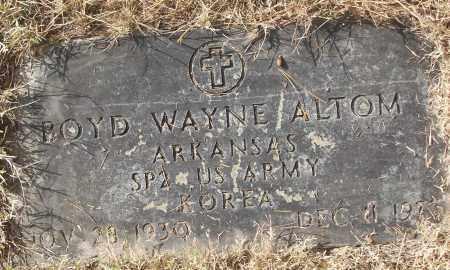 ALTOM (VETERAN KOR), BOYD WAYNE - White County, Arkansas | BOYD WAYNE ALTOM (VETERAN KOR) - Arkansas Gravestone Photos
