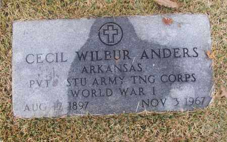ANDERS (VETERAN WWI), CECIL WILBUR - White County, Arkansas | CECIL WILBUR ANDERS (VETERAN WWI) - Arkansas Gravestone Photos