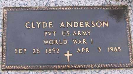 ANDERSON (VETERAN WWI), CLYDE - White County, Arkansas | CLYDE ANDERSON (VETERAN WWI) - Arkansas Gravestone Photos