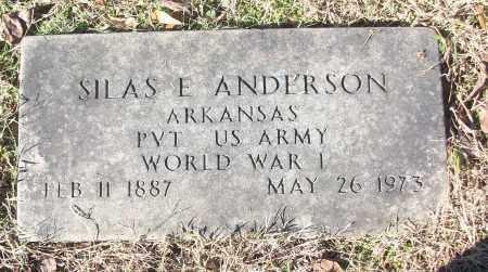 ANDERSON (VETERAN WWI), SILAS E - White County, Arkansas | SILAS E ANDERSON (VETERAN WWI) - Arkansas Gravestone Photos