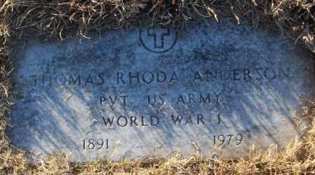 ANDERSON (VETERAN WWI), THOMAS RHODA - White County, Arkansas   THOMAS RHODA ANDERSON (VETERAN WWI) - Arkansas Gravestone Photos