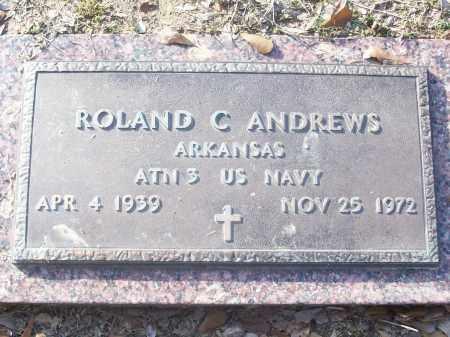 ANDREWS (VETERAN), ROLAND C - White County, Arkansas   ROLAND C ANDREWS (VETERAN) - Arkansas Gravestone Photos