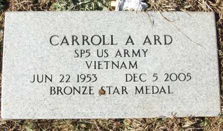ARD (VETERAN VIET), CARROLL A - White County, Arkansas | CARROLL A ARD (VETERAN VIET) - Arkansas Gravestone Photos