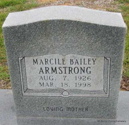 BAILEY ARMSTRONG, MARCILE - White County, Arkansas | MARCILE BAILEY ARMSTRONG - Arkansas Gravestone Photos