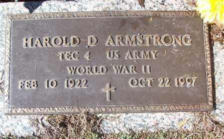 ARMSTRONG (VETERAN WWII), HAROLD D - White County, Arkansas | HAROLD D ARMSTRONG (VETERAN WWII) - Arkansas Gravestone Photos