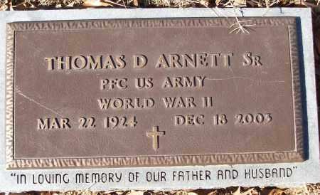 ARNETT, SR (VETERAN WWII), THOMAS D - White County, Arkansas | THOMAS D ARNETT, SR (VETERAN WWII) - Arkansas Gravestone Photos